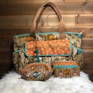 Fossil Key-per Large Tote Birds in Birdcages set